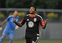 Lionard pajoy (26) of D.C. United celebrates his score from a penalty kick. D.C. United defeated the The New England Revolution 3-1 in the Quarterfinals of Lamar Hunt U.S. Open Cup, at the Maryland SoccerPlex, Tuesday June 26 , 2013.