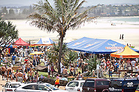 Kirra Beach, Queensland, Australia.   Monday January 26 2009..Over one thousand five hundred people paddled out at Kirra Beach today to protest the loss of the world famous surfing location Kirra Point. The Australia Day  Paddle Out focused  community attention on the wipeout of Kirra Point due to the massive build up of sand from the Tweed River Sand Bypass.  Photo: joliphotos.com