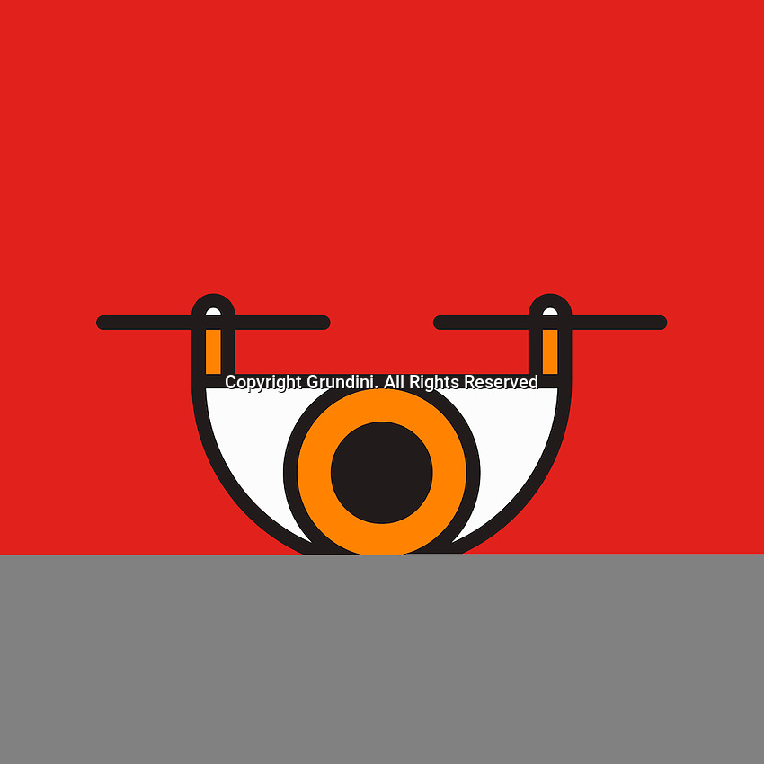 Abstract eye on red background ExclusiveImage ExclusiveArtist
