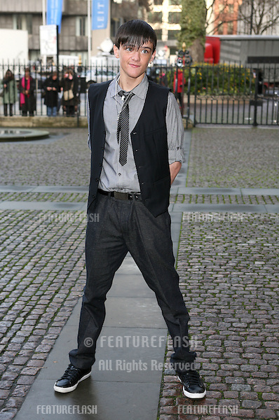 George Sampson arriving for Children Of Courage service, Westminster Abbey, London. 09/12/2009. Picture by:   Alexandra Glen / Featureflash
