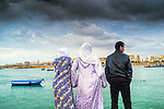 People by Bou Regreg River, Rabat, Morocco