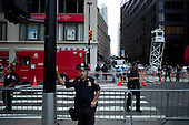 New  York, New York.September 11, 2011..Crowds gather at Ground Zero under an extremely heavy police presents to mark the 10th anniversary of 9-11-2001 tragic attack on the US.