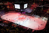 View on ice rink during ice-hockey match between Los Angeles Kings and Phoenix Coyotes in NHL league, March 3, 2011 at Staples Center, Los Angeles, USA. (Photo By Matic Klansek Velej / Sportida.com)