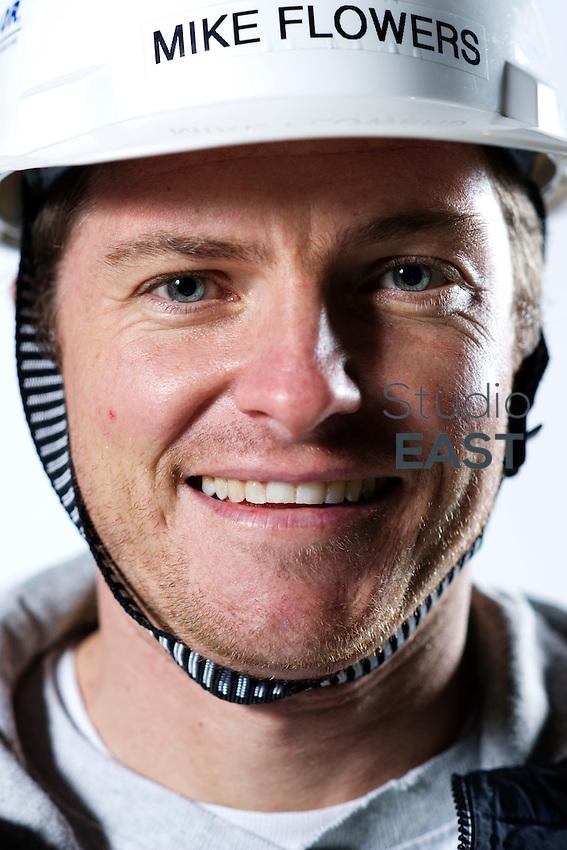 Sean Wichman (wearing the helmet of Mike Flowers as a joke)