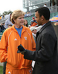 3 December 2006: Tennessee women's basketball coach Pat Summitt made an appearance at the game. The University of North Carolina Tarheels defeated the University of Notre Dame Fighting Irish 2-1 at SAS Stadium in Cary, North Carolina in the NCAA Division I Women's College Cup championship game.