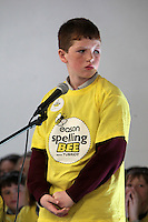 NO FEE PICTURES.8/3/12 Adam Rooney, Scoil Cholmcille Senior, Ballybrack, taking part in the Dublin County final, part of the overall Eason 2012 Spelling Bee, held at St Olaf's NS, Dundrum. .For further details visit www.easons.com/spellingbee and stay tuned to RTE 2fm. Picture:Arthur Carron/Collins
