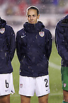 27 April 2008: Heather Mitts (USA). The United States Women's National Team defeated the Australia Women's National Team 3-2 at WakeMed Stadium in Cary, NC in a rain delayed women's international friendly soccer match.