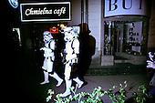 Warsaw 30.05.2008 Poland<br /> Two men in disguise as soldiers form The Star Wars movie, walking on Chmielna street in center of Warsaw<br /> (Photo by Adam Lach / Napo Images for Newsweek Polska)<br /> <br /> Dwoch mezczyzn przebranych za zolnierzy z filmu Gwiezdne Wojny idze po ulicy Chmielnej w centrum Warszawy<br /> (Fot Adam Lach / Napo Images dla Newsweek Polska)