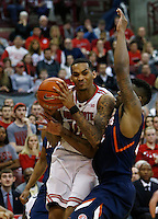 Ohio State Buckeyes forward LaQuinton Ross (10) goes up against Illinois Fighting Illini guard Rayvonte Rice (24) in the second half at Value City Arena in Columbus Jan. 23, 2013 (Dispatch photo by Eric Albrecht)