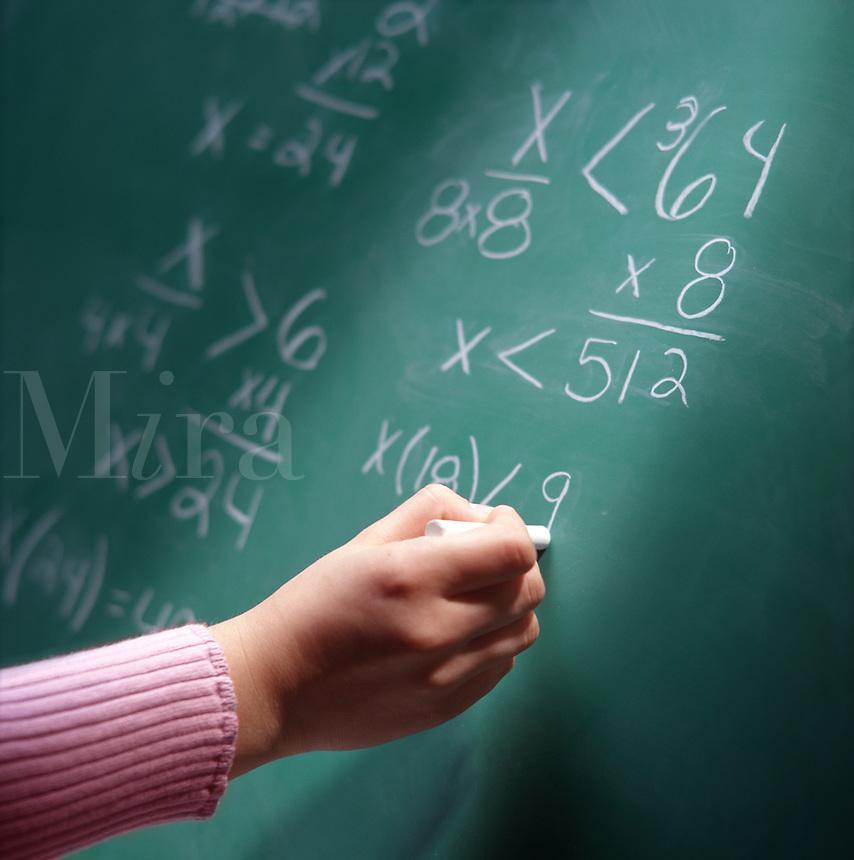 Mathmatical equation on blackboard