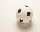 White soccer ball used for competition and recreation
