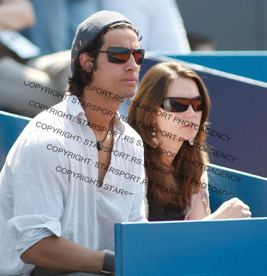 Tenis, .SERBIA OPEN 2010.Dusan Vemic Vs. Franko Skugor.Ilija Bozoljac and Jelena Vemic.Belgrade, 01.05.2010..foto: Srdjan Stevanovic/Starsportphoto ©