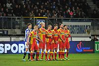 VOETBAL: ABE LENSTRA STADION: HEERENVEEN: 30-11-2013, SC Heerenveen - Go Ahead Eagles, uitslag 3-1, muurtje Go Ahead, ©foto Martin de Jong