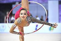 September 26, 2014 - Izmir, Turkey -  SON YEON-Jae of South Korea performs at 2014 World Championships.