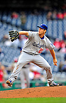 24 April 2010: Los Angeles Dodgers' starting pitcher Clayton Kershaw in action against the Washington Nationals at Nationals Park in Washington, DC. The Dodgers edged out the Nationals 4-3 in a thirteen inning game. Mandatory Credit: Ed Wolfstein Photo