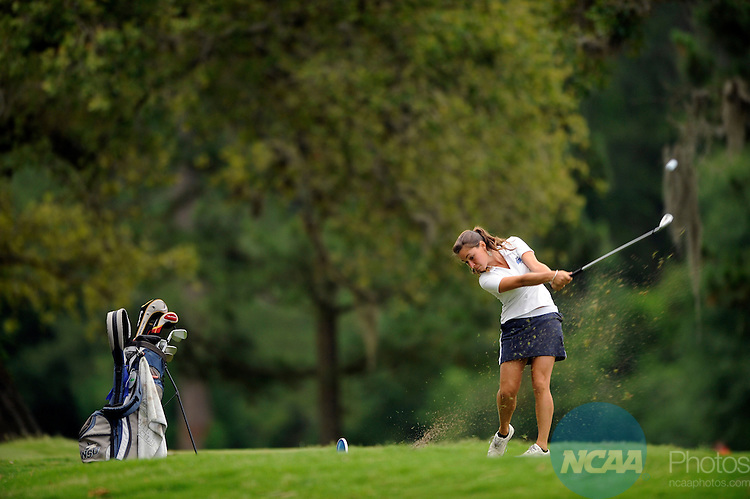 May 16 2008: Taylor Collins of Nova Southeastern University competes in the Division II Women's Golf Championship held at Memorial Park in Houston, TX. Collins tied for fourth place with a 298 score. Stephen Nowland/NCAA Photos