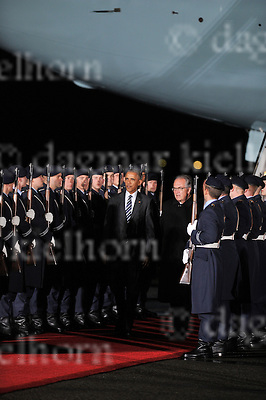 November 16-16, Berlin-Tegel Airport,military section<br /> Arrival of American President Barack H. Obama with Air Force One in Germany