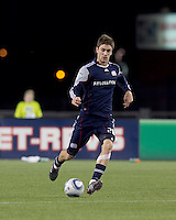New England Revolution midfielder Stephen McCarthy (26). In a Major League Soccer (MLS) match, Real Salt Lake defeated the New England Revolution, 2-0, at Gillette Stadium on April 9, 2011.