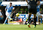St Johnstone v Celtic&hellip;20.08.16..  McDiarmid Park  SPFL<br />Danny Swanson has a shot at goal<br />Picture by Graeme Hart.<br />Copyright Perthshire Picture Agency<br />Tel: 01738 623350  Mobile: 07990 594431