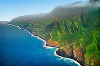 Hanakoa Valley, Na Pali coast, Kauai, Hawaii, Pacific Ocean