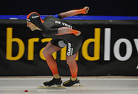 SCHAATSEN: HEERENVEEN; 11-10-2014, IJstadion Thialf, KNSB Trainingswedstrijd, Bob de Vries, ©foto Martin de Jong