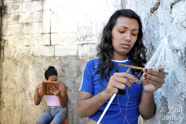 ... and transgender prisoners in a prison in Sensuntepeque, El Salvador.