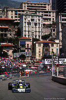 MONTE CARLO, MONACO - MAY 30: Jody Scheckter drives the Tyrrell P34 3/Ford Cosworth DFV during practice for the Grand Prix of Monaco on May 30, 1976, on the temporary street circuit in Monte Carlo, Monaco.