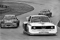 LEXINGTON, OH - JUNE 5: David Hobbs drives the McLaren BMW 320i Turbo 001 en route to victory in the Mid-Ohio Twin 200 IMSA Camel GT race at the Mid-Ohio Sports Car Course near Lexington, Ohio, on June 5, 1977.