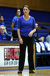 25 November 2014: Duke head coach Joanne P. McCallie. The Duke University Blue Devils hosted the State University of New York Buffalo Bulls at Cameron Indoor Stadium in Durham, North Carolina in a 2014-15 NCAA Division I Women's Basketball game. Duke won the game 88-54.