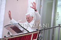 Pope Benedict XVI leads his Angelus prayer at his summer residence in Castelgandolfo, south of Rome, 11 July 2010.