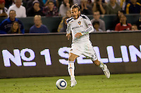 David Beckham of the LA Galaxy moves towards the goal. FC Dallas defeated the LA Galaxy 3-0 to win the Western Division 2010 MLS Championship at Home Depot Center stadium in Carson, California on Sunday November 14, 2010.