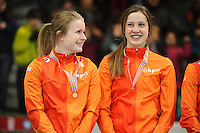 SHORT TRACK: TORINO: 15-01-2017, Palavela, ISU European Short Track Speed Skating Championships, Podium Relay Ladies, Yara van Kerkhof (NED), Suzanne Schulting (NED), ©photo Martin de Jong