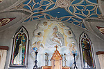 Altar and Fresco in Italian Chapel on Lamb Holm; Orkney Islands; Scotland