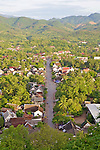 View Of Luang Prabang From Mount Phousi