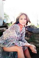 Philadelphia, PA, April 21, 2015 - A portrait of Josie Maran, model & owner of Josie Maran Cosmetics, at her farm house in Newtown Square, Pennsylvania.