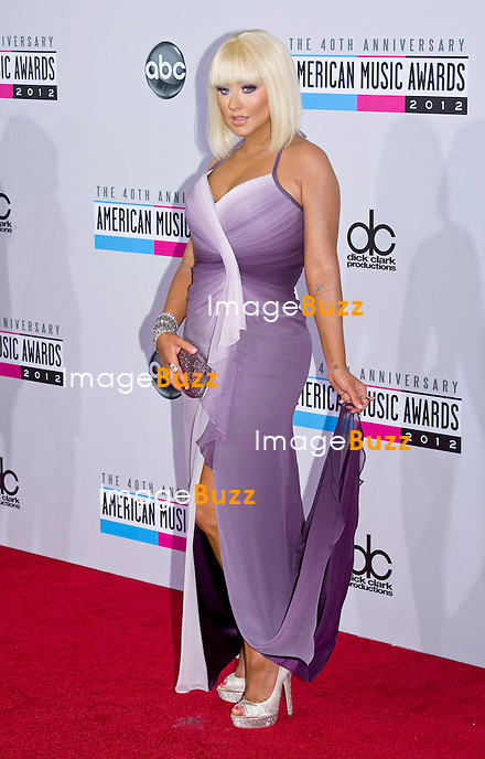 CHRISTINA AGUILERA.attends the 40th American Music Awards, Nokia Theatre, Los Angeles_18/11/2012