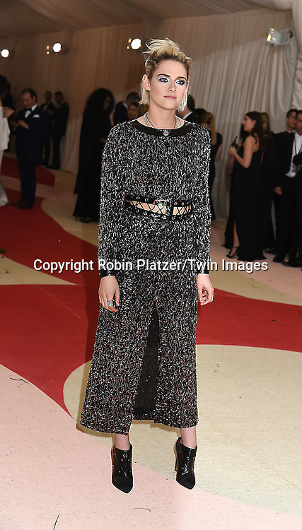 Kristen Stewart attends the Metropolitan Museum of Art Costume Institute Benefit Gala on May 2, 2016 in New York, New York, USA. The show is Manus x Machina: Fashion in an Age of Technology. <br /> <br /> photo by Robin Platzer/Twin Images<br />  <br /> phone number 212-935-0770