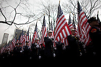 Military members march on Fifth Avenue during the 252nd annual St. Patrick's Day Parade in New York City. Photo by Eduardo Munoz Alvarez / VIEWpress.