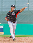 10 March 2015: Miami Marlins pitcher Pat Misch on the mound during Spring Training action against the Washington Nationals at Roger Dean Stadium in Jupiter, Florida. The Marlins edged out the Nationals 2-1 on a walk-off solo home run in the 9th inning of Grapefruit League play. Mandatory Credit: Ed Wolfstein Photo *** RAW (NEF) Image File Available ***