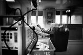 Wroclaw 02.02.2007 Poland.<br /> Rafal Kutyba, 12 in his room after operation.<br /> Clinical Hospital, oncology and haematology departmend. This is one of the important Haematologic Hospital in all over Poland, however hospital board stopped to discharge a rising debt. In this connection authorities must close hospital, but goverment had no idea what should do with terminaly ill children.<br /> (Photo: Adam Lach / Napo Images)<br /> <br /> Akedemicki Szpital Kliniczny, oddzial onkologii i hematologii. Temu jednemu z najwazniejszych w Polsce osrodkowi szpitalnemu grozi zamkniecie w powodu dlugow, ktore niezaleznie od wplat NFZ-tu regularnie sciaga komornik. Z calej Polski ludzie charytatywnie wplacaja pieniadze by uratowac szpital i los dzieci dla ktorych to miejsce jest jedynym ratunkiem.
