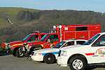Emergency vehicles at Pescadero