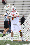 College Park, MD - February 18, 2017: Maryland Terrapins Dan Morris (8) in action during game between High Point and Maryland at  Capital One Field at Maryland Stadium in College Park, MD.  (Photo by Elliott Brown/Media Images International)
