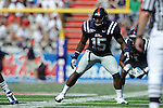 Ole Miss linebacker Joel Kight (15) at Vaught-Hemingway Stadium in Oxford, Miss. on Saturday, September 4, 2010.