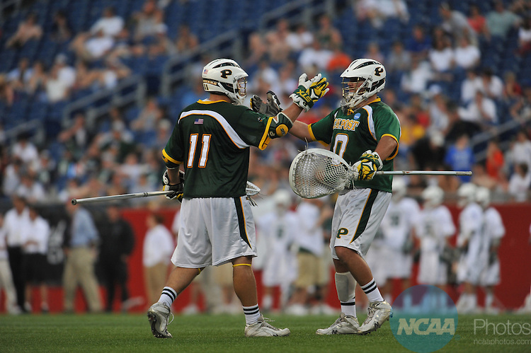 24 MAY 2009: C.W. Post takes on Le Moyne College in the Division II Men's Lacrosse Championship held at Gillette Stadium in Foxborough, MA. C.W. Post defeated LeMoyne 8-7 for the national title. Larry French/NCAA Photos