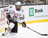 Wade MacLeod (NU - 19) - The Northeastern University Huskies defeated the Harvard University Crimson 4-1 (EN) on Monday, February 8, 2010, at the TD Garden in Boston, Massachusetts, in the 2010 Beanpot consolation game.