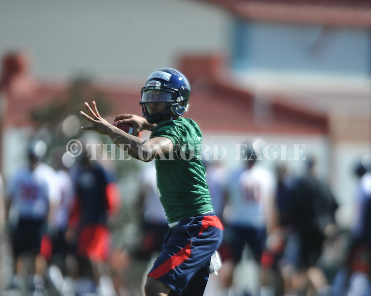 as Mississippi began spring practice in Oxford, Miss. on Friday, March 23, 2012. (AP Photo/Oxford Eagle, Bruce Newman)w