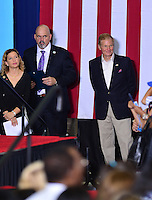 CORAL SPRINGS, FL - SEPTEMBER 30: Rep. Debbie Wasserman Schultz (D-FL), Raul Martinez and Sen. Bill Nelson (D-FL) attend the Democratic presidential candidate Hillary Clinton campaign rally at Coral Springs Gymnasium on September 30, 2016 in Coral Springs, Florida. Clinton continues to campaign against her Republican opponent Donald Trump before election day on November 8th.  Credit: MPI10 / MediaPunch