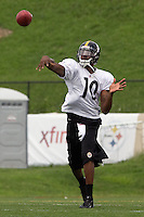Dennis Dixon, Pittsburgh Steelers quarterback. Training camp, August 11, 2011 at Latrobe, Pennsylvania.