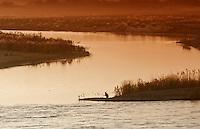 Helmand river. Helmand province, Afghanistan.