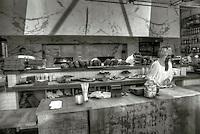 GTA (Gjelina Take Away) Bakery, Abbot Kinney Blvd. Venice, CA, Black and White